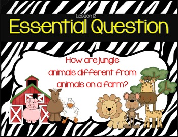 First Grade Journeys Common Core Essential Questions Zebra