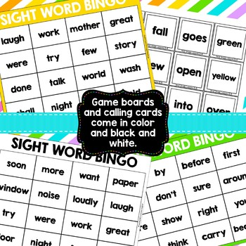 Sight Word Bingo {Compatible With First Grade Journeys}