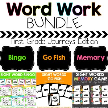 First Grade Sight Word Game Bundle {Compatible With First Grade Journeys}
