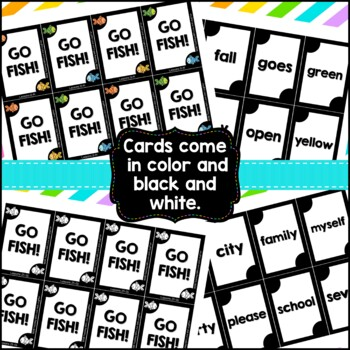 Sight Words Go Fish {Compatible With First Grade Journeys}