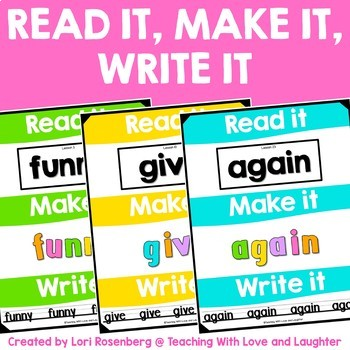 Sight Word Read it, Make it, Write it {Compatible With Fir