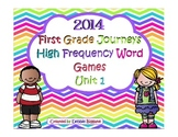First Grade Journeys High Frequency Word Activities (Unit 1)