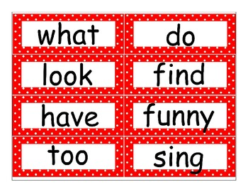 First Grade Journeys High Frequency Word Wall (Red Polka Dot)