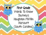 First Grade Journey's (Houghton Mifflin Harcourt) Words to