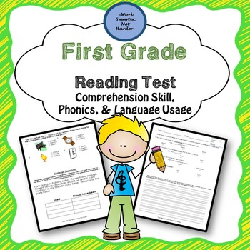 First Grade Reading Differentiated Test