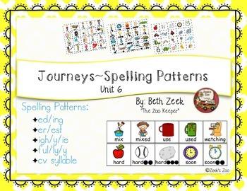 First Grade Spelling Patterns ~ Journeys ~ Unit 6