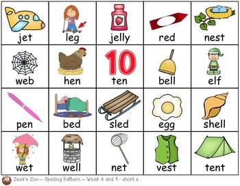 First Grade Spelling Patterns ~ Journeys ~ Units 1 & 2