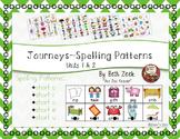 First Grade Spelling Patterns ~ Journeys ~ Units 1 & 2