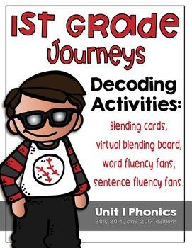 First Grade Journeys Phonics and Decoding Activities Unit 1