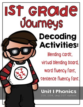 First Grade Journeys Phonics and Decoding Activities Unit 1
