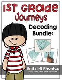 First Grade Journeys Phonics and Decoding Activities Units 1-5
