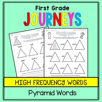 First Grade Journeys - Sight Words: Pyramid Words