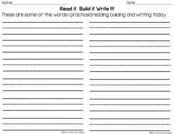 First Grade Journeys - Read It Build It Write It for All 25 Units