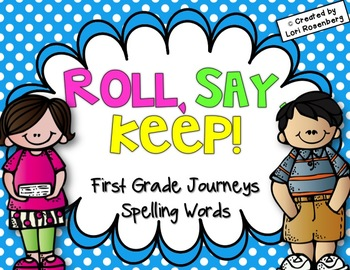 Spelling Words Roll, Say, Keep {Compatible With First Grad