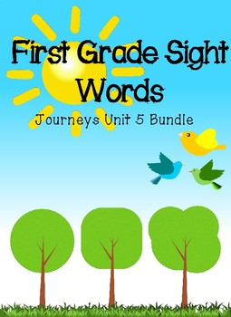 First Grade Journeys Sight Word Activity Pack Unit 5