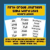First Grade Sight Word Lists