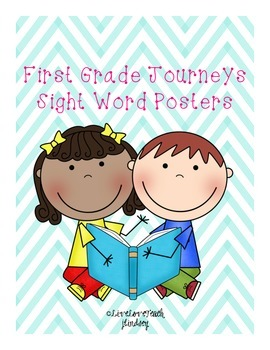 First Grade Journeys Sight Word Posters