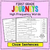 Journeys Sight Words: Cloze Sentences - First Grade