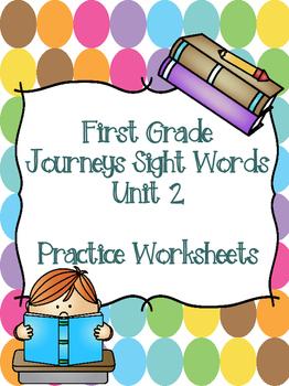 First Grade Journeys Sight Words Unit 2