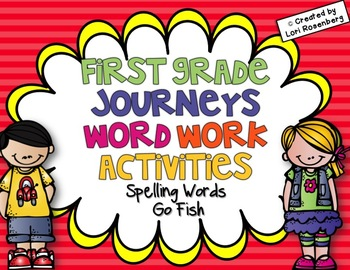 Spelling Words Go Fish {Compatible With First Grade Journeys}