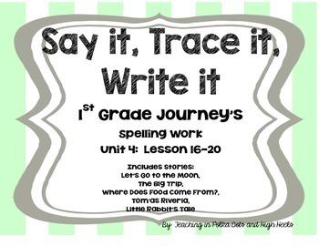 First Grade Journey's Spelling Words Supplement-- Unit 4
