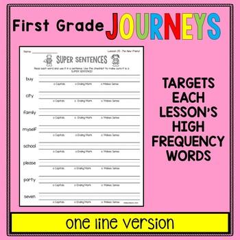 First Grade Journeys - Sight Words: Super Sentences