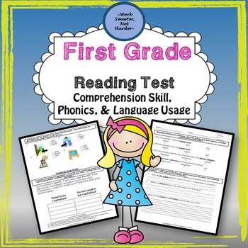 First Grade Differentiated Reading Test