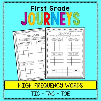 First Grade Journeys - Tic Tac Toe - Word Work