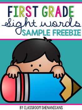 First Grade Journeys Sight Words Sample FREEBIE