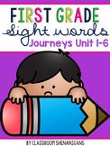 First Grade Journeys Sight Words Unit 1-6 BUNDLE