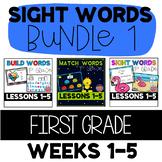 First Grade Journeys Unit 1 SIGHT WORD BUNDLE: Match, Build, Identify, Sentences