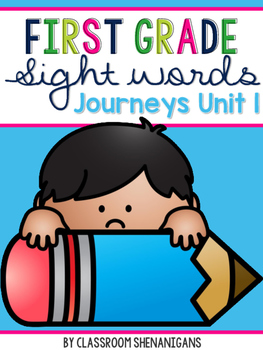 First Grade Journeys Sight Words Unit 1