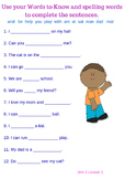 First Grade Journeys Unit 1- using words in context