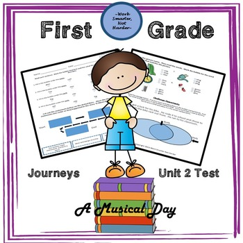 Free First Grade Journeys Unit 2 Test A Musical Day