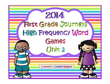 First Grade Journeys Unit 2 High Frequency Word Games