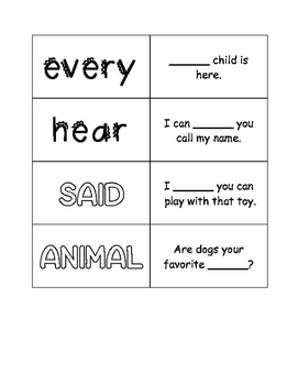 First Grade Journeys Unit 2 Sight Word Cards
