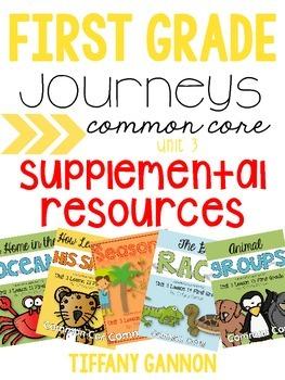 First Grade Journeys Unit 3 Bundle