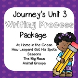 First Grade Journeys Unit 3 Writing Process with Rubrics