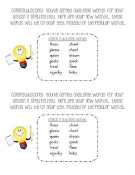 First Grade Journeys Unit 4 Challenge Spelling Lists