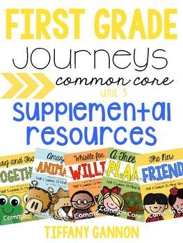 First Grade Journeys Unit 5 Bundle