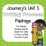 First Grade Journeys Unit 5 Writing Process Package with Rubrics