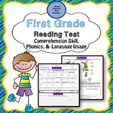 First Grade Common Core Aligned Reading Test
