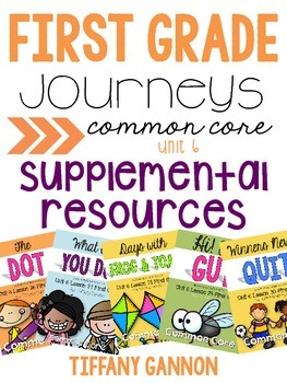 First Grade Journeys Unit 6 Bundle
