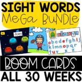 First Grade Journeys Units 1-6 SIGHT WORD MEGA BUNDLE: 30 Weeks of BOOM Cards