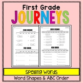 First Grade Journeys - Spelling Words: Word Shapes and ABC Order