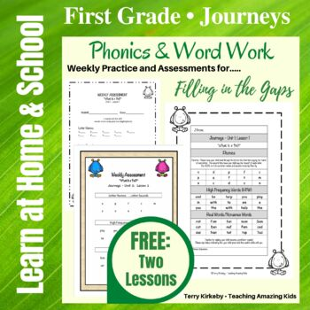 Journeys/1st Grade - What is a Pal? - Word Work Practice & Mastery