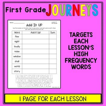 First Grade Journeys - Word Work - Add It Up Spelling