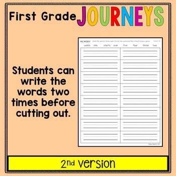 First Grade Journeys - Sight Words: Memory Game