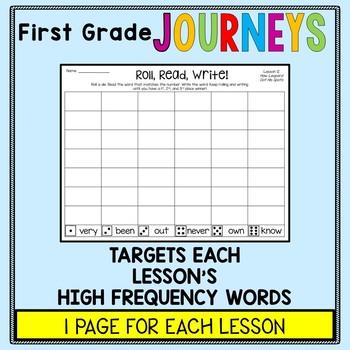 First Grade Journeys - Sight Words: Roll, Read, Write!
