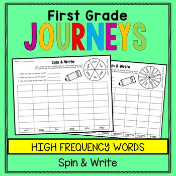First Grade Journeys - Sight Words: Spin & Write!